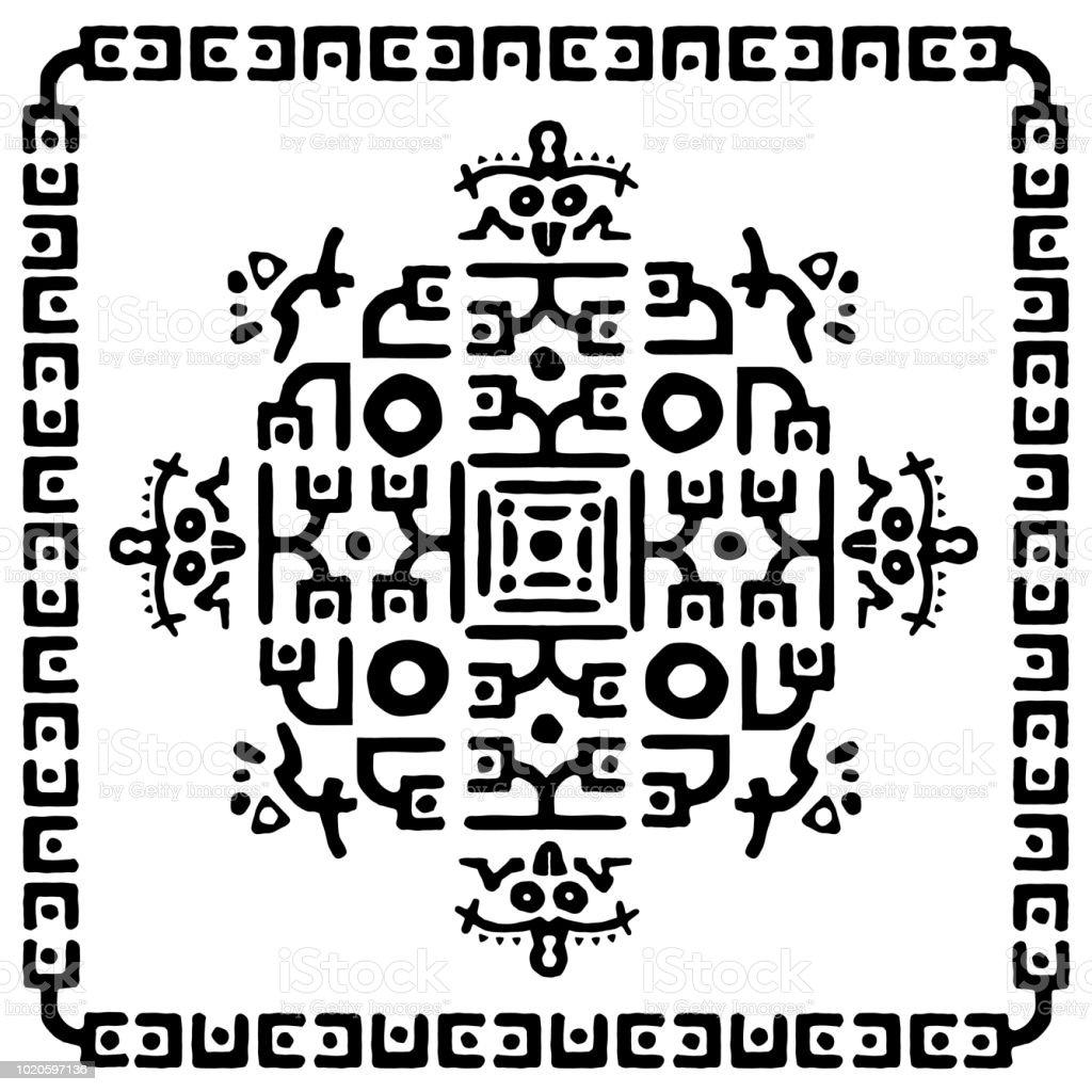 Ilustración de Patrón Gráfico Abstracto Blanco Y Negro Cuadrado ...