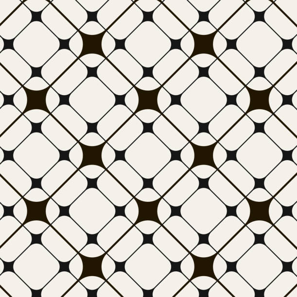black and white abstract pattern background - tile pattern stock illustrations, clip art, cartoons, & icons