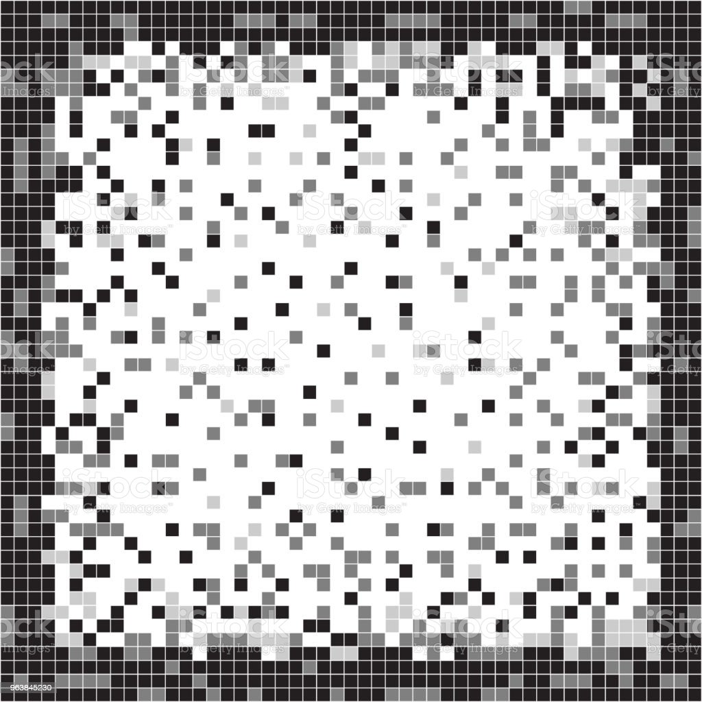 Black and white abstract pixel background. Pixel art. - Royalty-free Abstract stock vector
