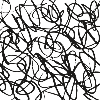 Black And White Abstract Scribble Background