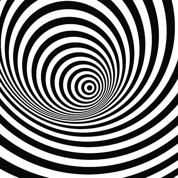 schwarz und weiß abstrakte gestreiften hintergrund.   optische kunst. - höhenangst stock-grafiken, -clipart, -cartoons und -symbole