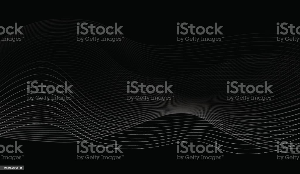 Black and White Abstract Wavy Background vector art illustration