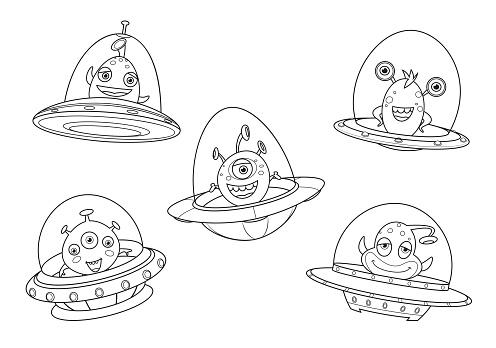 Black And White, Aliens spaceships set