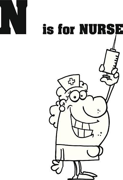 Lustige Krankenschwester Bilder Vektorgrafiken und