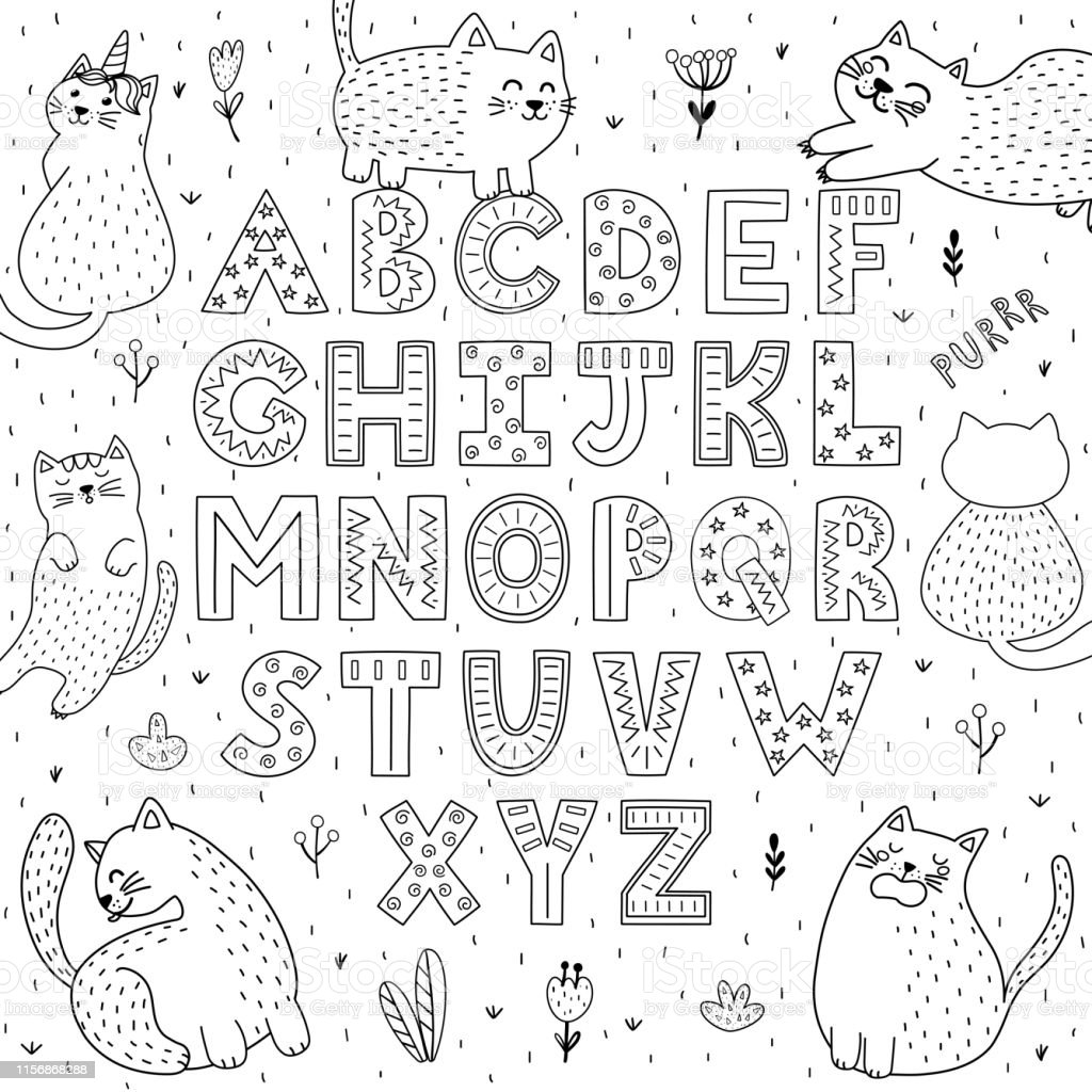 2,976 Alphabet Coloring Pages Illustrations & Clip Art - IStock