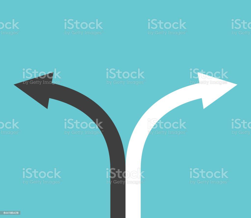 Black and white arrows vector art illustration