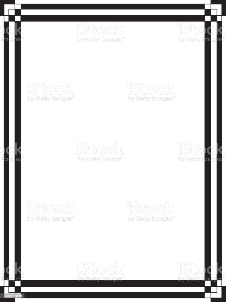 black and white art deco border stock vector art more images of rh istockphoto com art deco frame vector gold art deco border vector