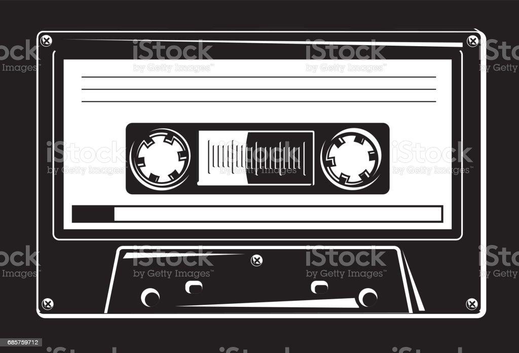 Svart och vitt ljudkassett royaltyfri svart och vitt ljudkassett-vektorgrafik och fler bilder på analog