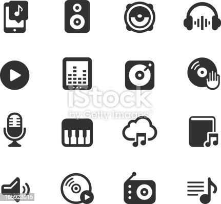 Music Icons on white background.