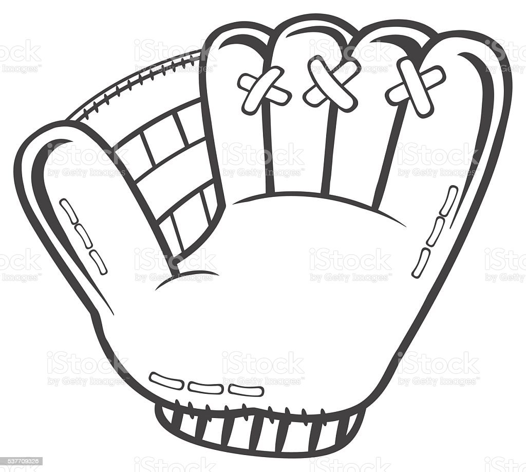 royalty free baseball glove drawing pictures clip art vector images rh istockphoto com baseball glove clipart images baseball glove clipart free