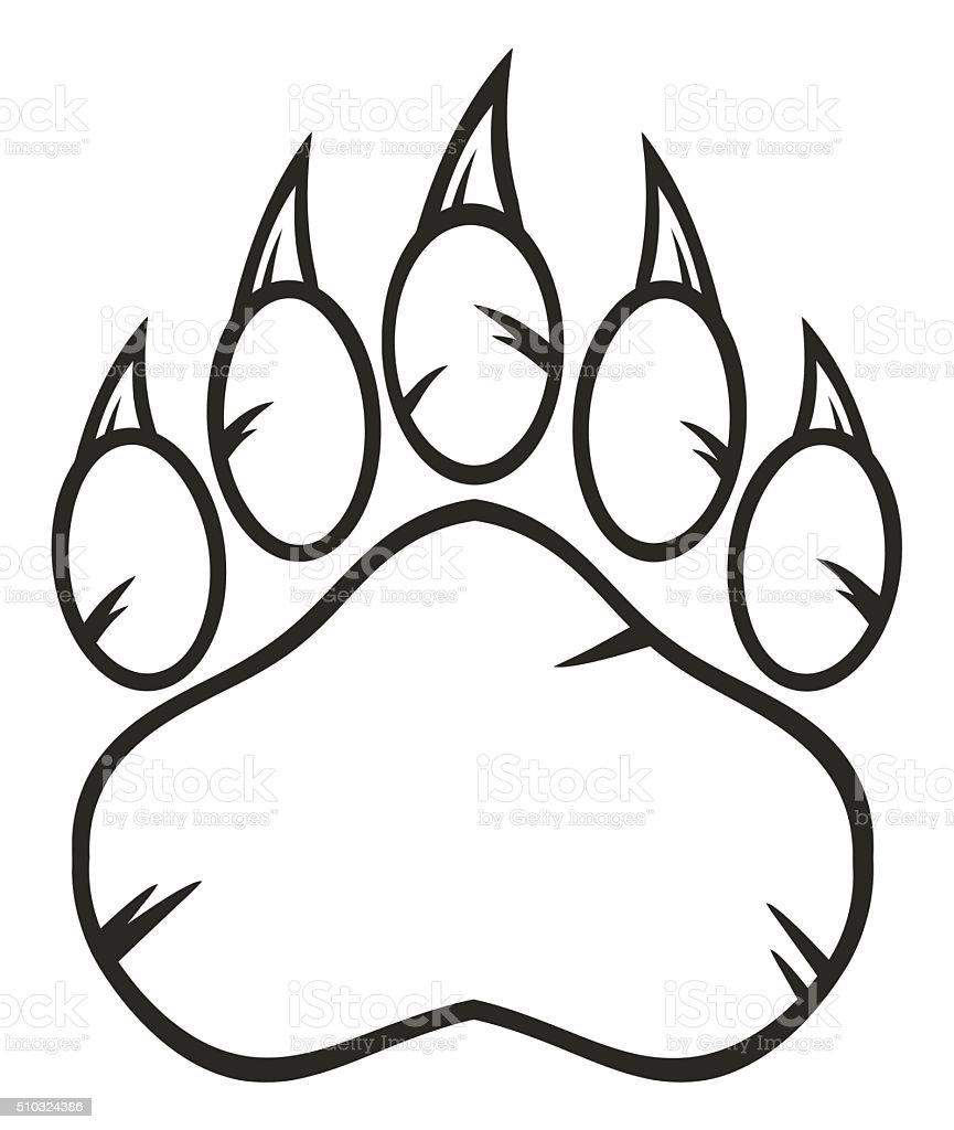 白黒ベア動物の足の爪 のイラスト素材 510324386 | istock