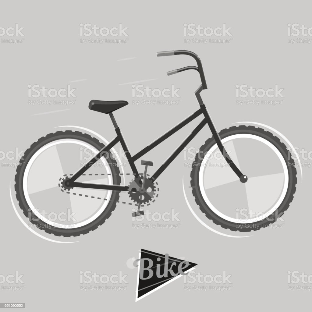 Black And White Bike Cycling Concept Bicycle Vector Bright ...