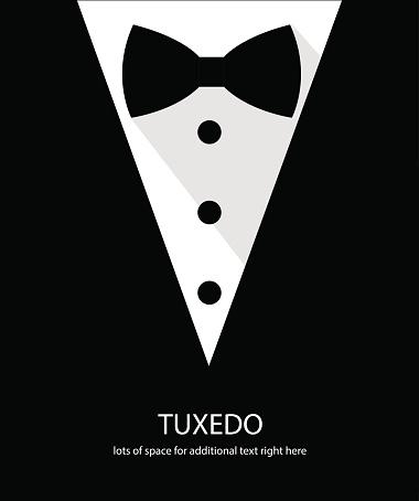 Black and white bow tie tuxedo