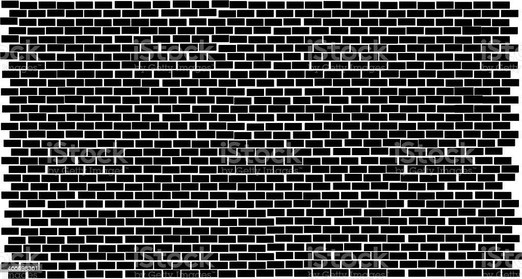 Black and white brick background vector art illustration