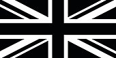 Black and White British Flag