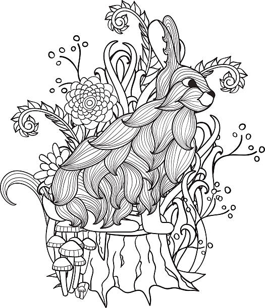 24 Vector Coloring Page Mystical Forest Fairy Illustrations Clip Art Istock