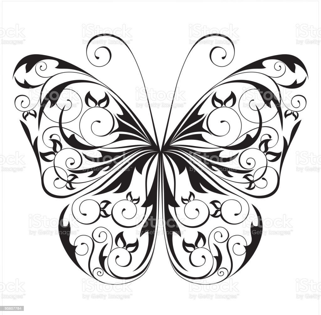 black and white butterfly stock vector art 95857784 istock