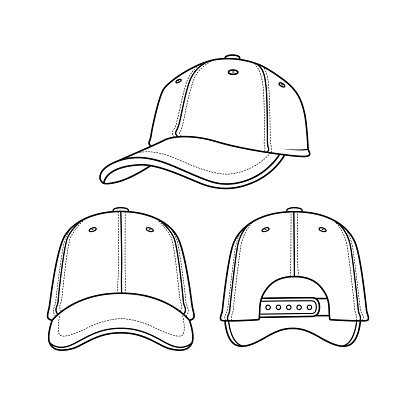 Black and white cap drawings for coloring cartoons for children. which is a vector illustration for preschool and home training for parents and teachers.