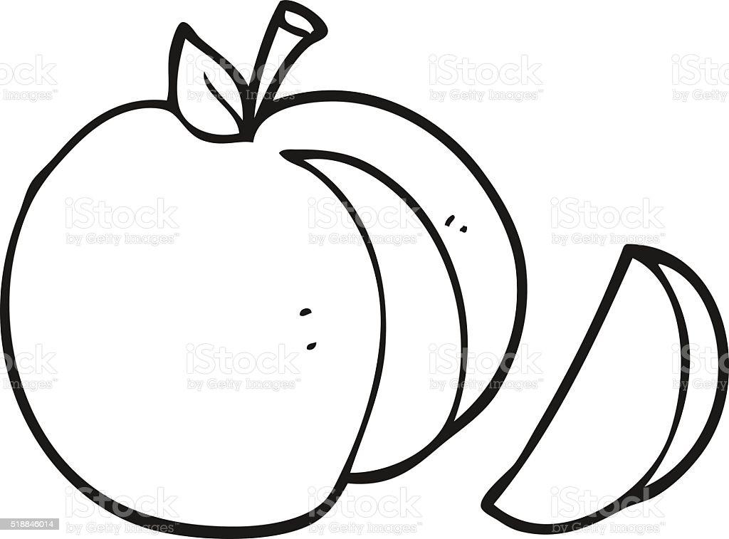 Ilustración de Blanco Y Negro De Dibujos Animados De Apple y más ...