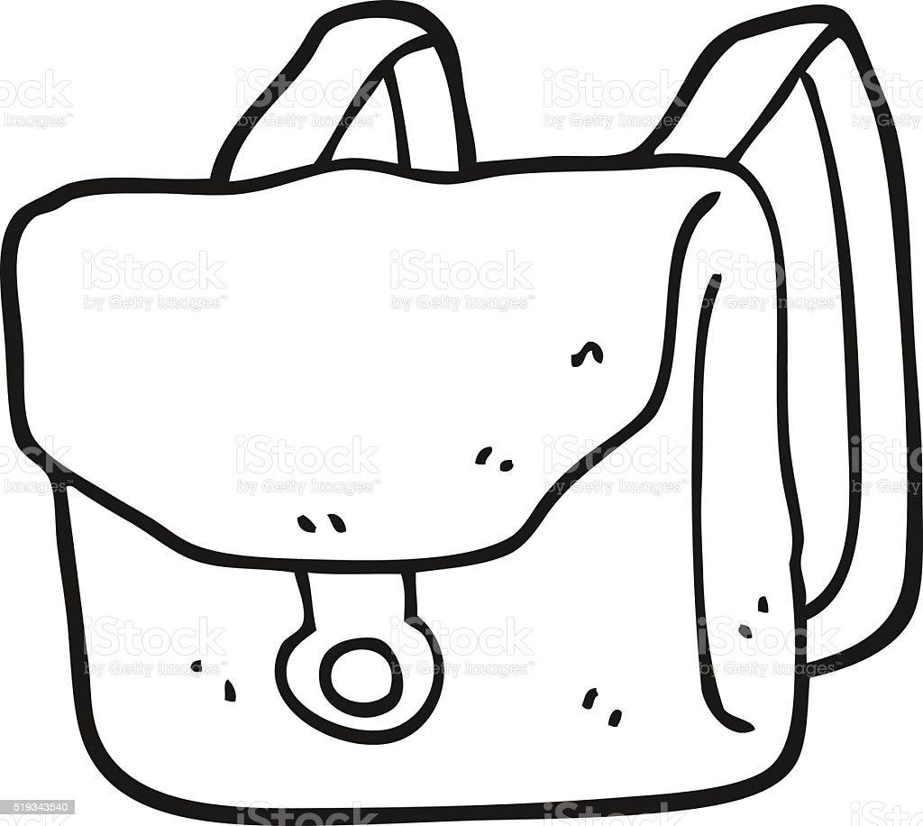 Sac dos de dessin anim noir et blanc vecteurs libres de droits et plus d 39 images de bizarre - Cartable a colorier ...