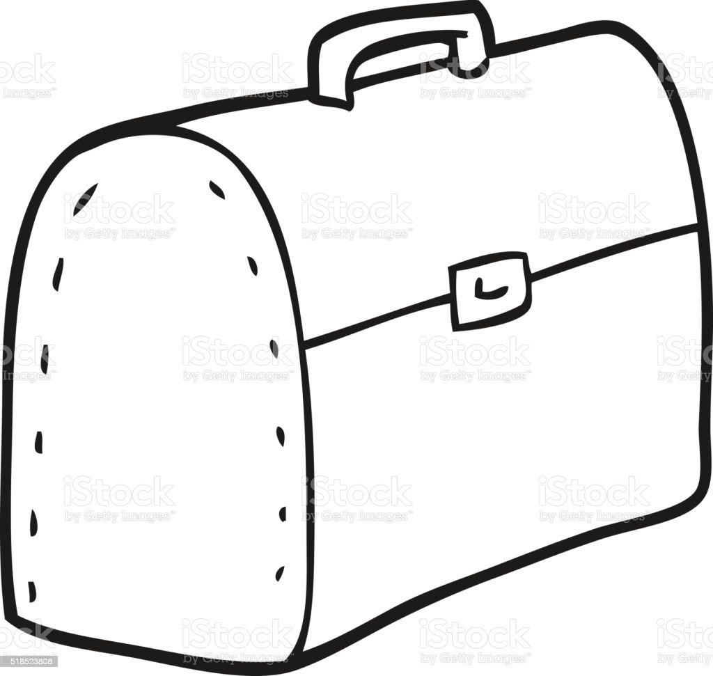 Schwarz Und Weiß Cartoon Tasche Stock Vektor Art und mehr