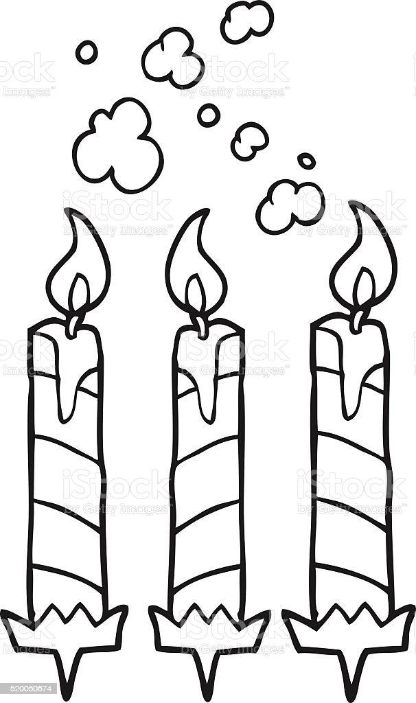 Ilustración de Blanco Y Negro De Historieta De Pastel De Cumpleaños ...
