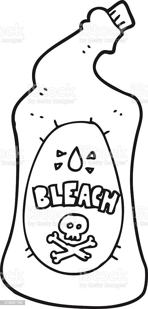 Ilustración de Blanco Y Negro De Blanqueador De Historieta Botella y ...