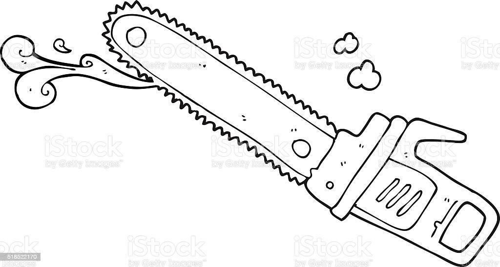ilustração de preto e branco desenho de maldito serra de cadeia e