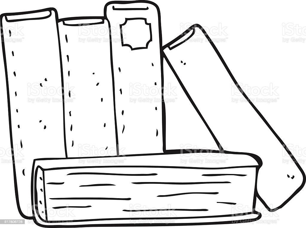 Desenho De Biblioteca Para Colorir: Preto E Branco Desenho De Livros