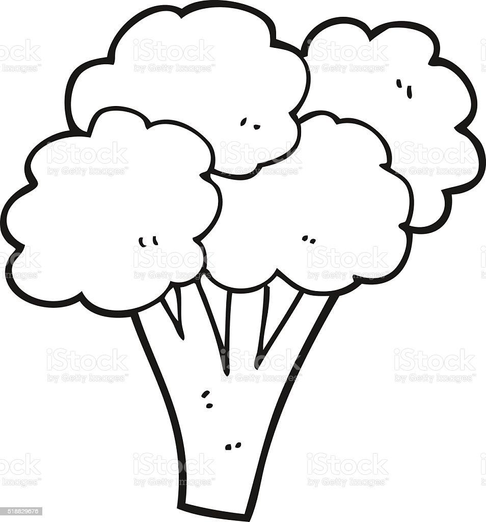 ilustração de preto e branco desenho de brócolis e mais banco de