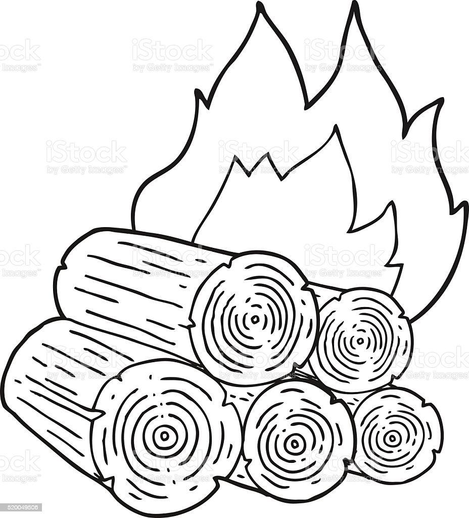Preto E Branco Desenho De Registos De Queimadura Arte Vetorial De Stock E Mais Imagens De Clip Art Istock