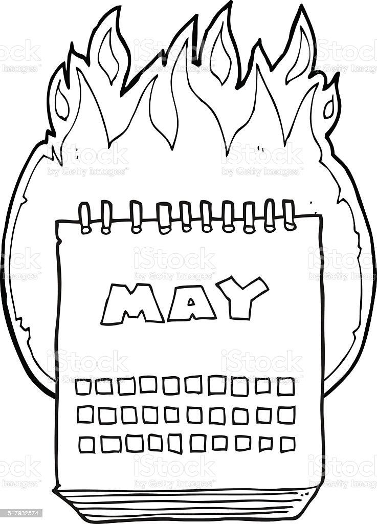 白黒イラスト 5 月のカレンダーを表示 いたずら書きのベクターアート素材や画像を多数ご用意 Istock