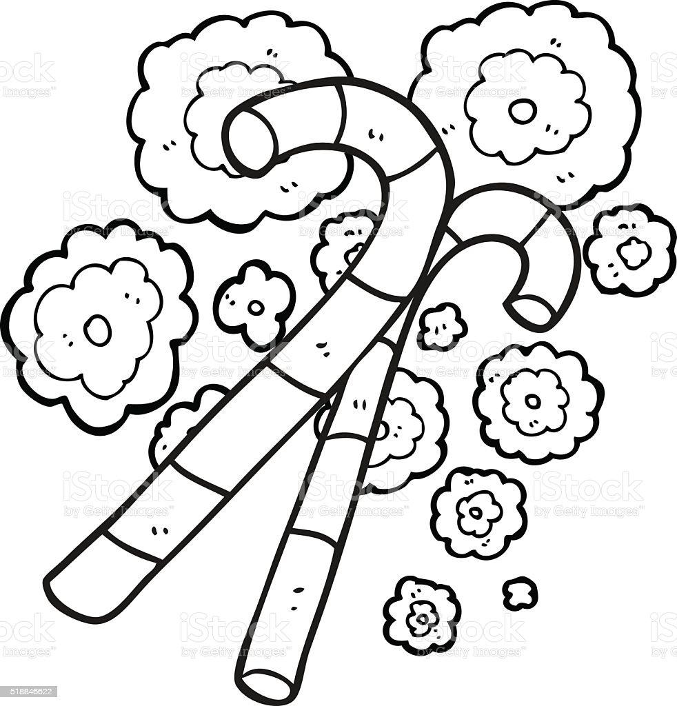 Vetores De Preto E Branco Desenho De Balas Em Forma De Bengala E