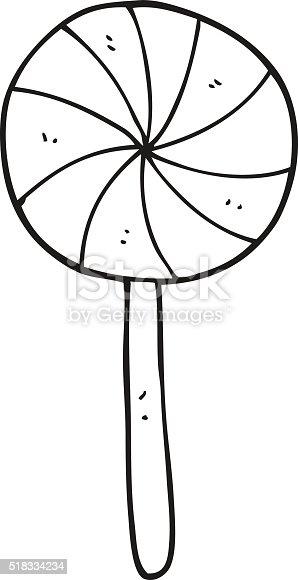 Black And White Cartoon Candy Lollipop Stock Vector Art