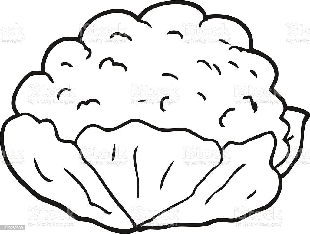 Noir Et Blanc Fleur De Dessin Animé Vecteurs Libres De Droits Et Plus Dimages Vectorielles De Aliment
