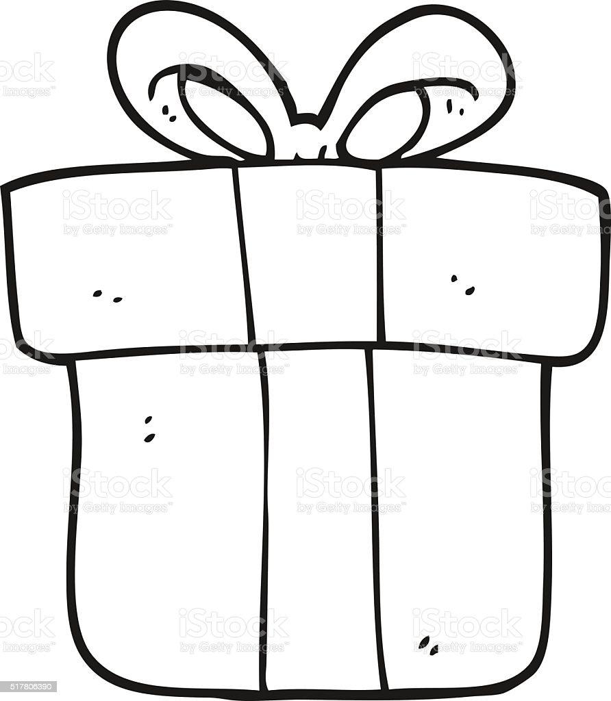 Ilustración de Blanco Y Negro De Historieta Regalo De Navidad y más ...