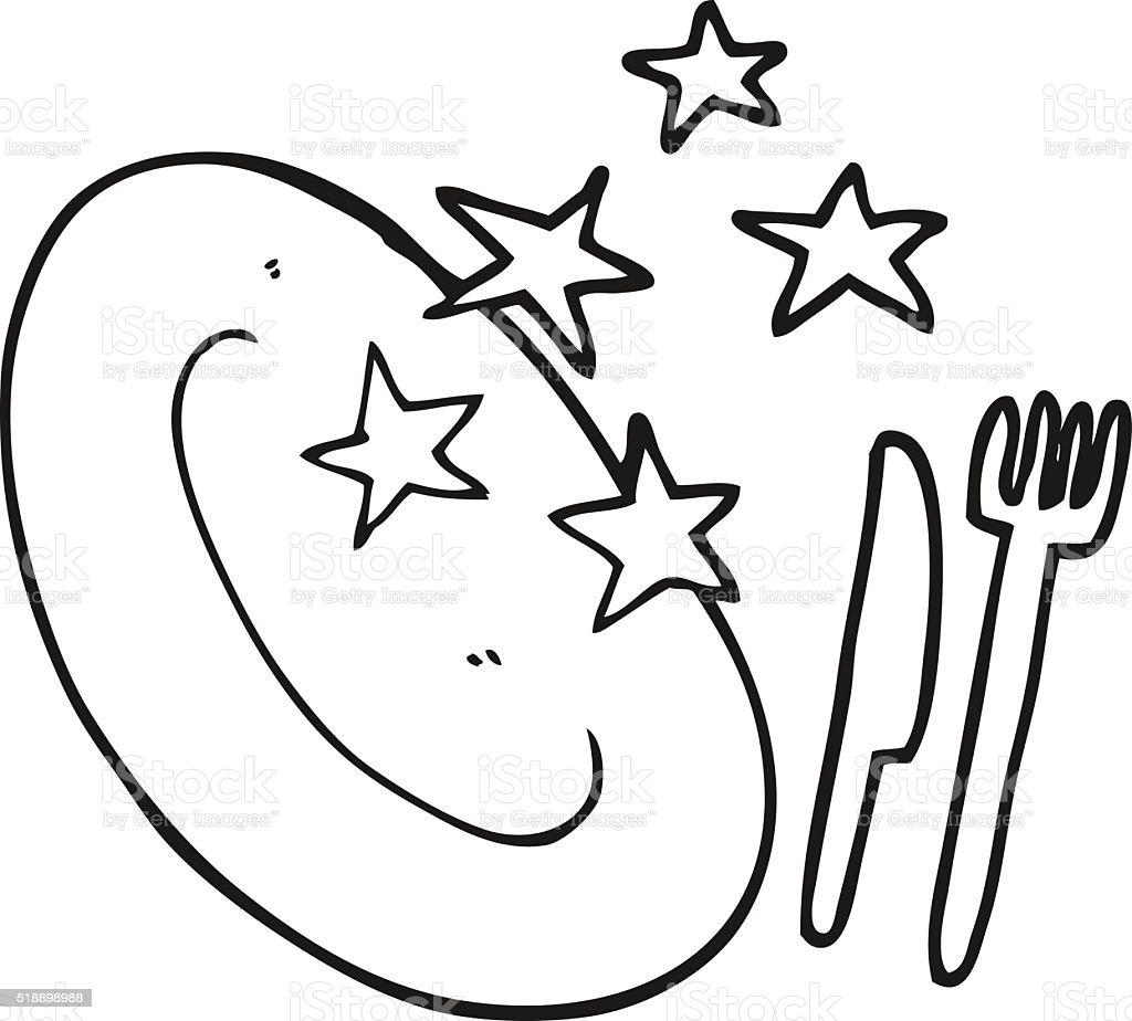 Schwarz Und Weiß Cartoon Sauber Platte Stock Vektor Art und mehr ...