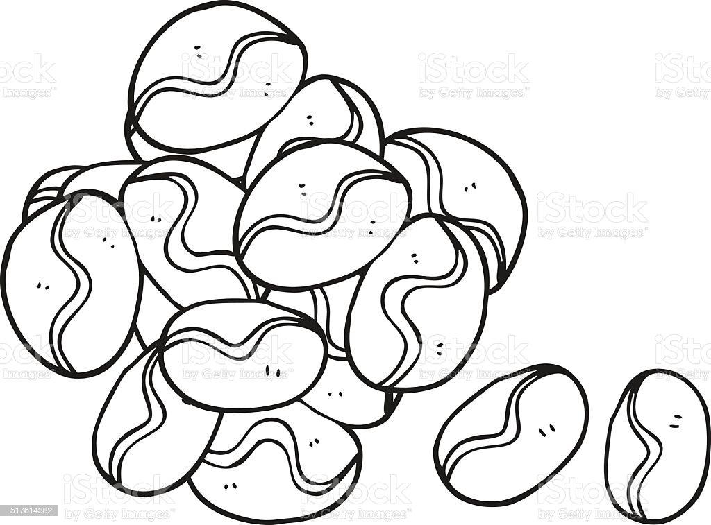 Vetores De Preto E Branco Desenho De Graos De Cafe E Mais Imagens