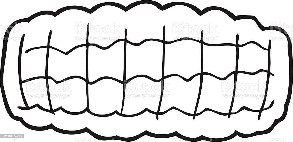 Bianco E Nero Fumetto Di Mais Pannocchia Immagini Vettoriali Stock