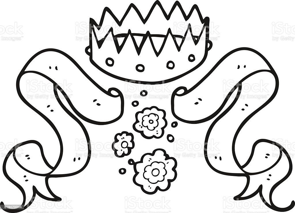 Ilustración De Icono De La Corona En Blanco Y Negro Vector Fondos Y