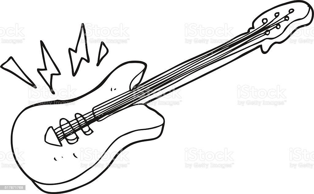 Vetores De Preto E Branco Desenho De Guitarra Eletrica E Mais