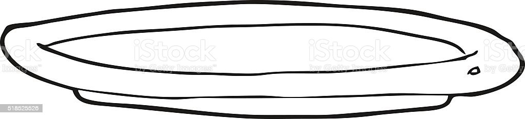Black And White Cartoon Empty Plate Stock Vector Art More Images