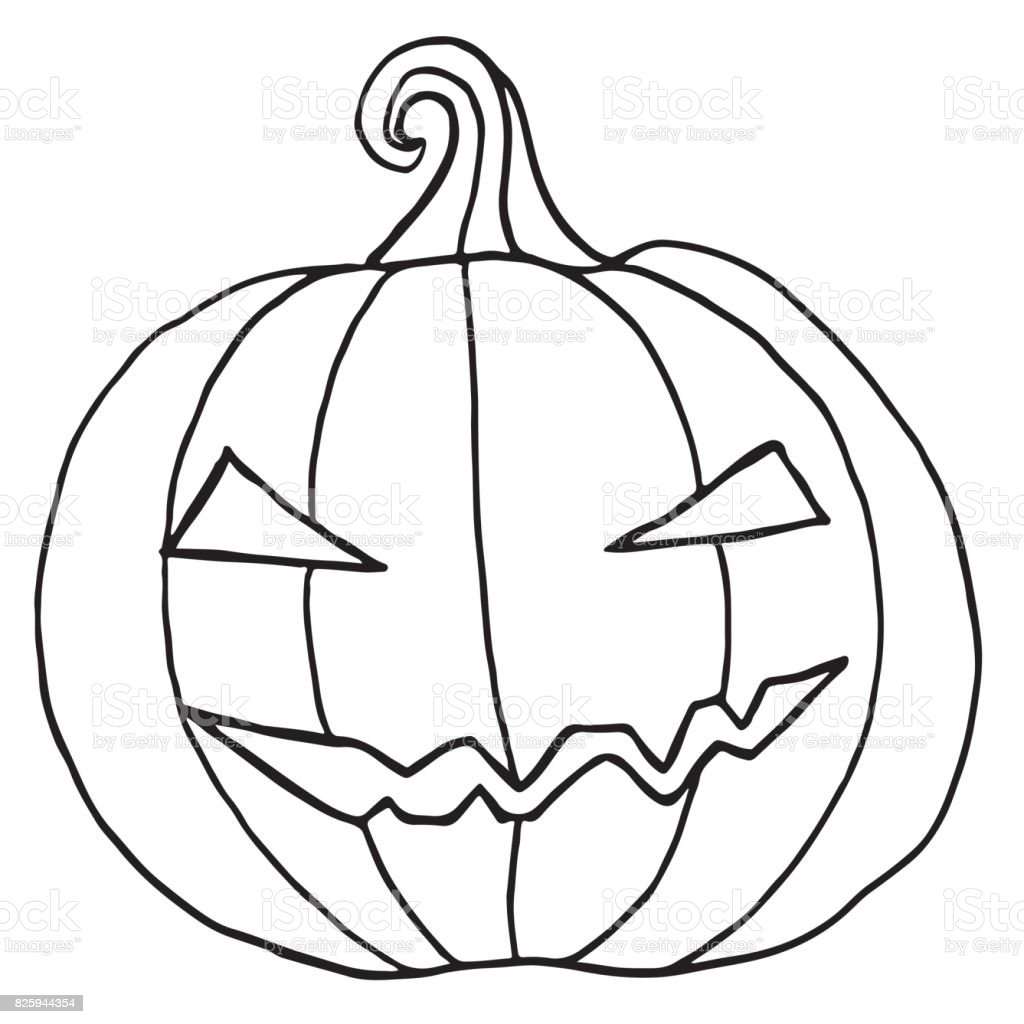 Best Pumpkin Clipart Black And White #1594 - Clipartion.com |Cartoon Black And White Pumkin