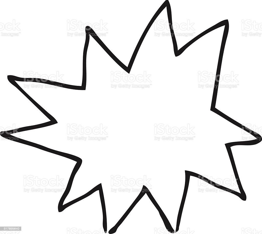 Preto E Branco Fogo De Explosao Simbolo Arte Vetorial De Stock E