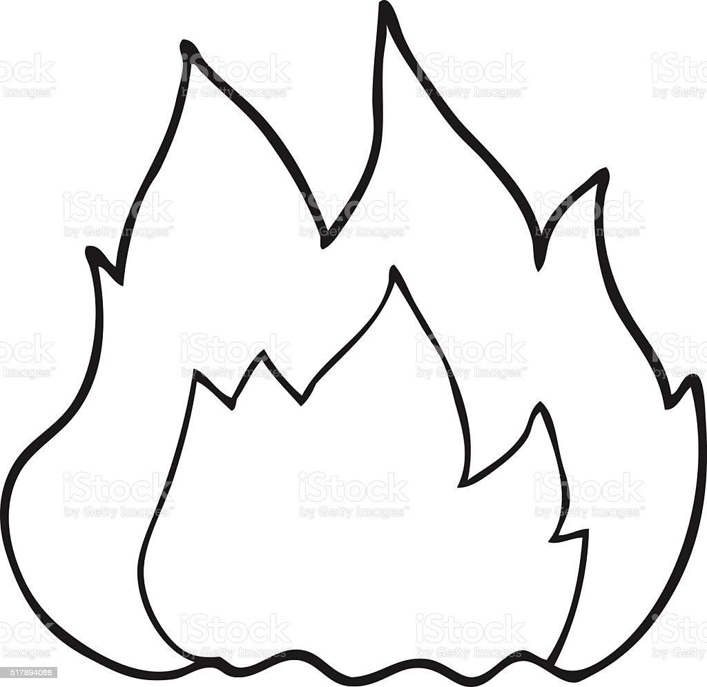 Ilustración de Fuego Blanco Y Negro De Historieta y más banco de ...