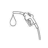 istock Black and white cartoon fuel nozzle pictures for kids This is a vector illustration for preschool and home training for parents and teachers. 1322712107