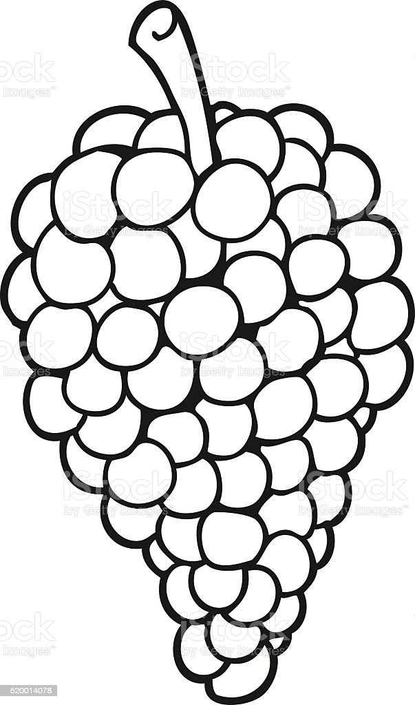 Black And White Cartoon Grapes Stock Vector Art & More ...