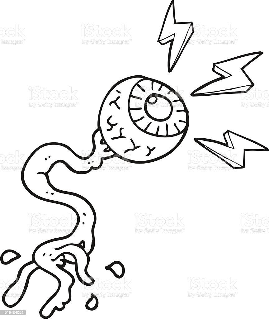 Ilustración de Blanco Y Negro De Historieta Bruto Eléctrica ...