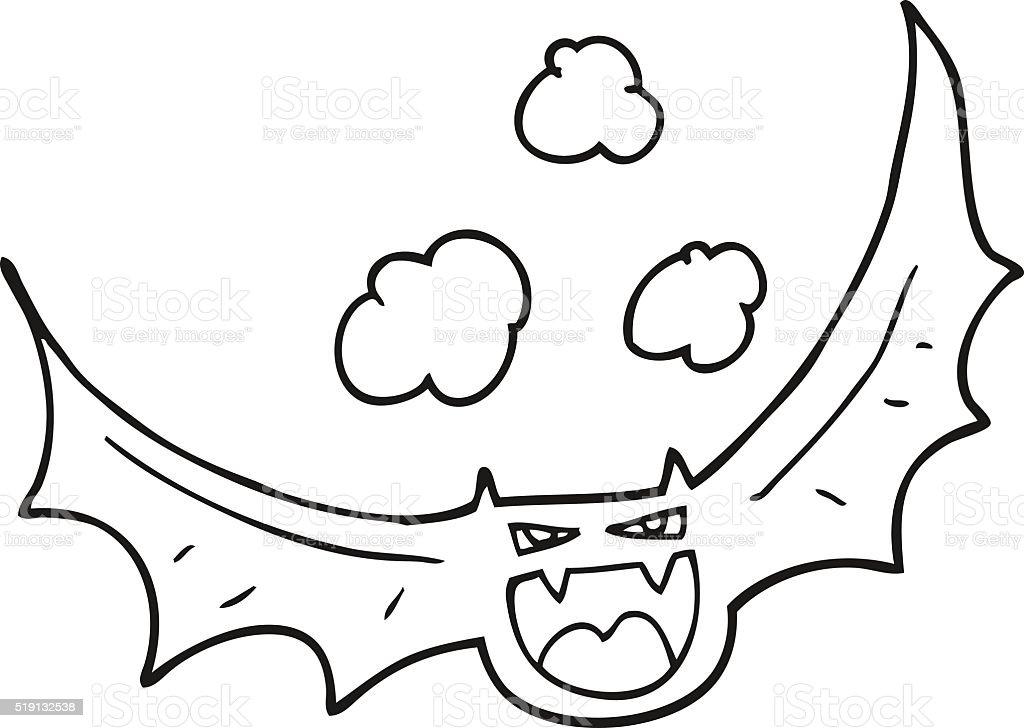 Ilustración de Blanco Y Negro De Dibujos Animados Halloween ...