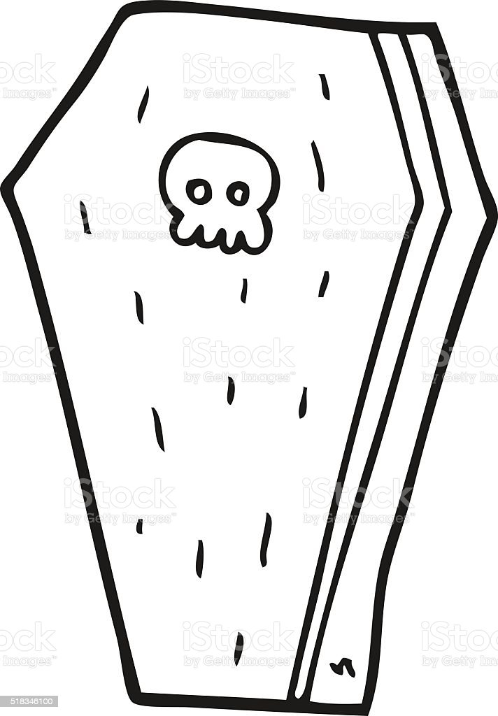 cercueil a colorier